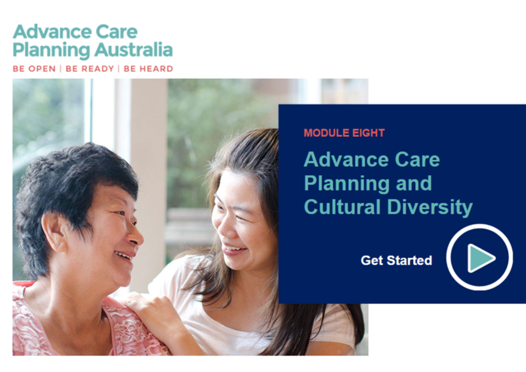 Start the advance care planning and diversity module